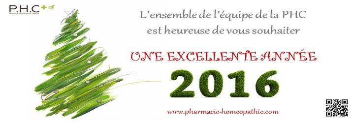 PHC vous souhaite une bonne année 2016