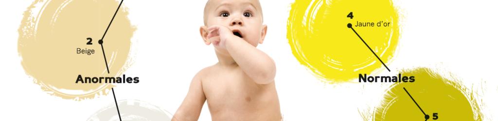 AMFE - Aletre jaune : surveillez les couleurs des selles de votre bébé
