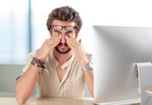 sécheresse oculaireliée à une fatigue oculaire
