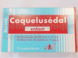 Coquelusedal Enfant suppositoires bronchite aiguë