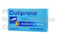 DOLIPRANE 150mg suppositoires