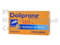 DOLIPRANE 200 mg suppositoire