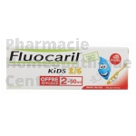 FLUOCARIL KIDS 2-6 ans Goût fraise (Lot de 2x50 ml)