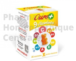 OURS+ 9 VITAMINES 30 gommes