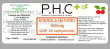 Acerola naturelle 1000 mg  - Vitamine C