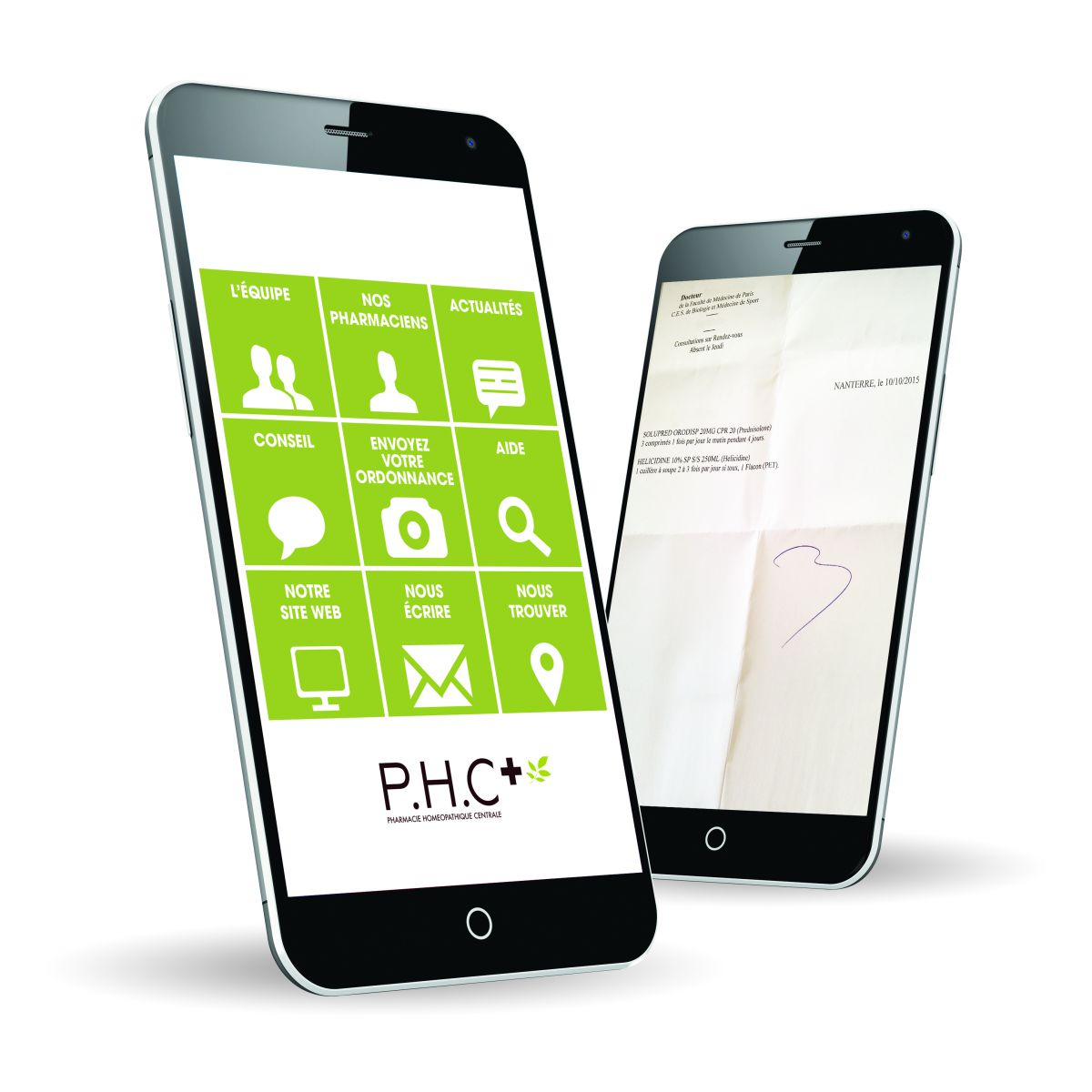 Application mobile smartphone PHC médecine naturelle
